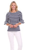 Zeeland Top in Navy & White Stripe