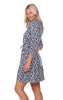 Stevie Dress in Navy Brush Print