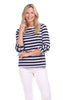 Claire Top in Navy & White Stripe