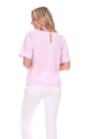 Jade Top in Pink Gingham