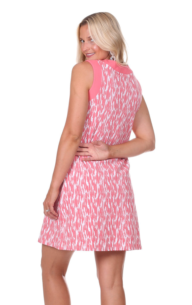 Hattie Dress in Strawberry Brush Print