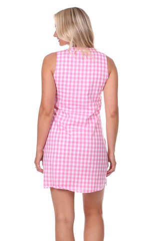 Grand Dress in Pink Gingham