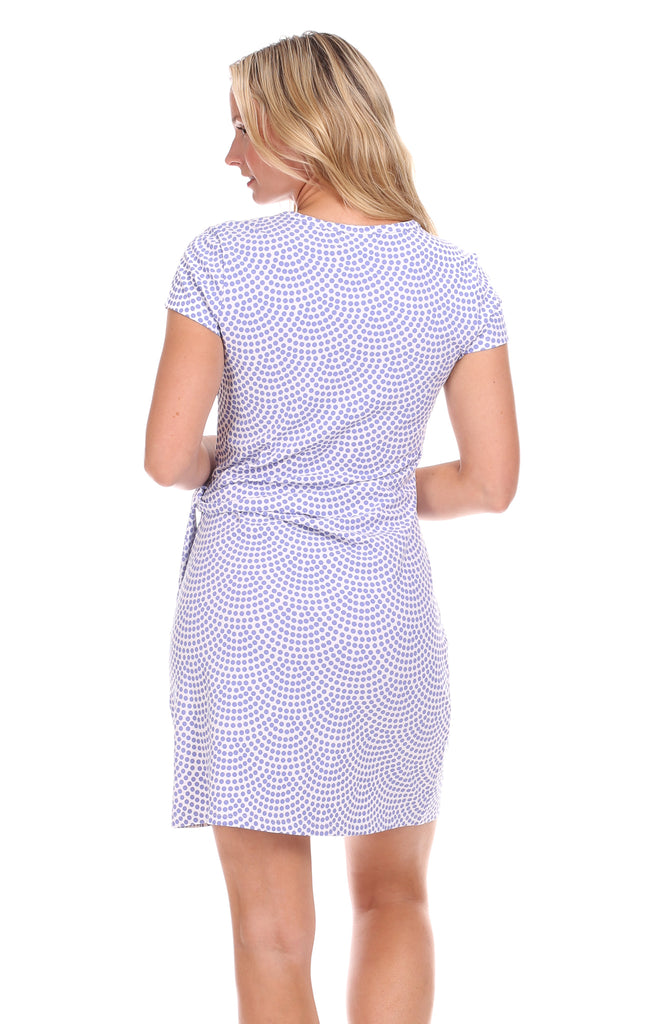 Lexi Dress in Lavender Dot