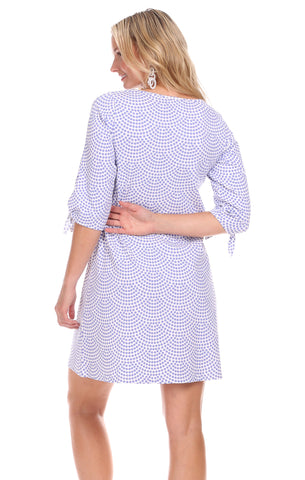 Summit Dress in Lavender Dot