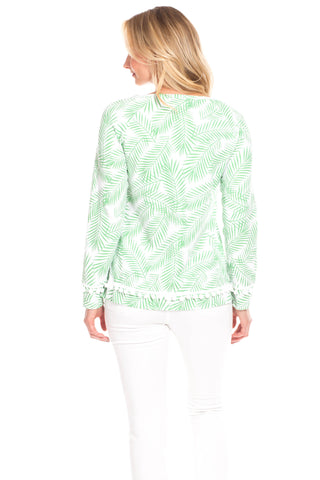 Sandford Sweatshirt in Palm Print
