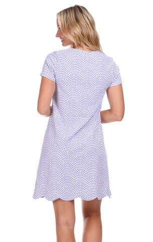Vanessa Dress in Lavender Dot