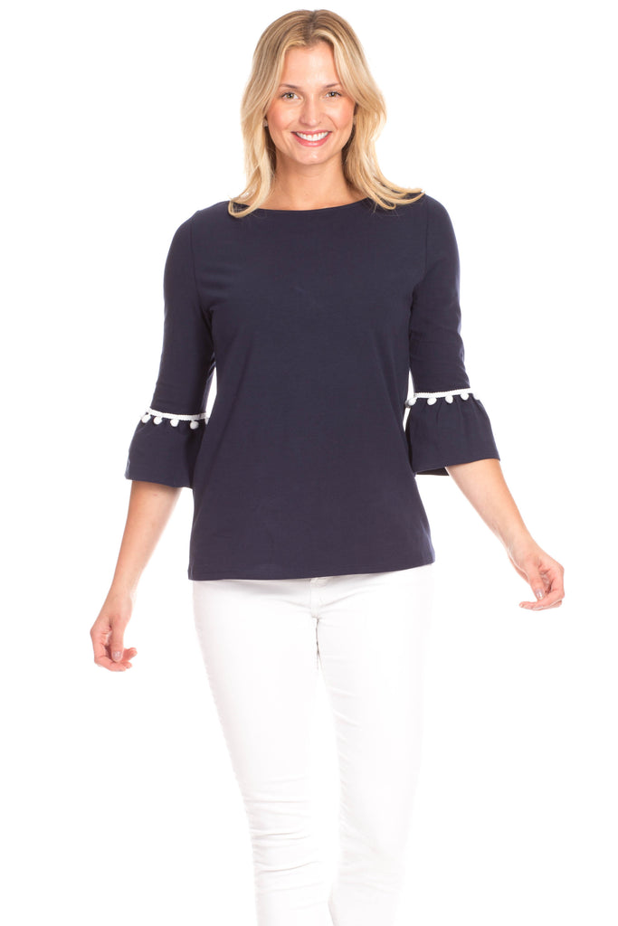 Preston Top in Navy