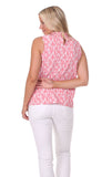 Rory Ruffle Neck Top in Strawberry Brush Print