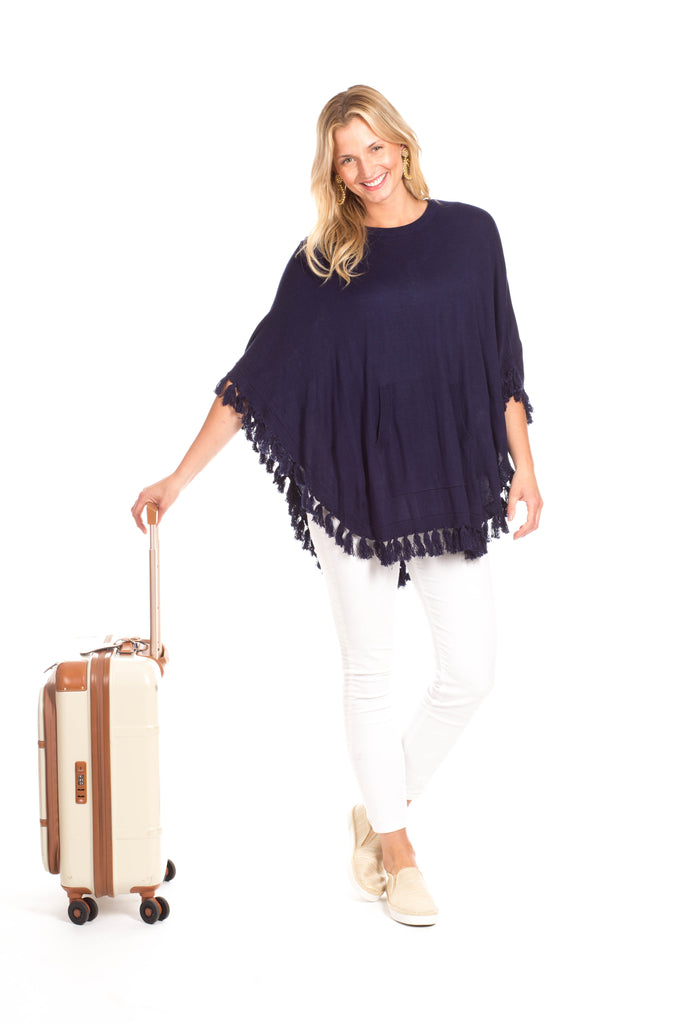 Penny Poncho in Navy