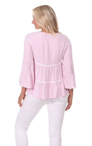 Charlie Top in Pink Stripe