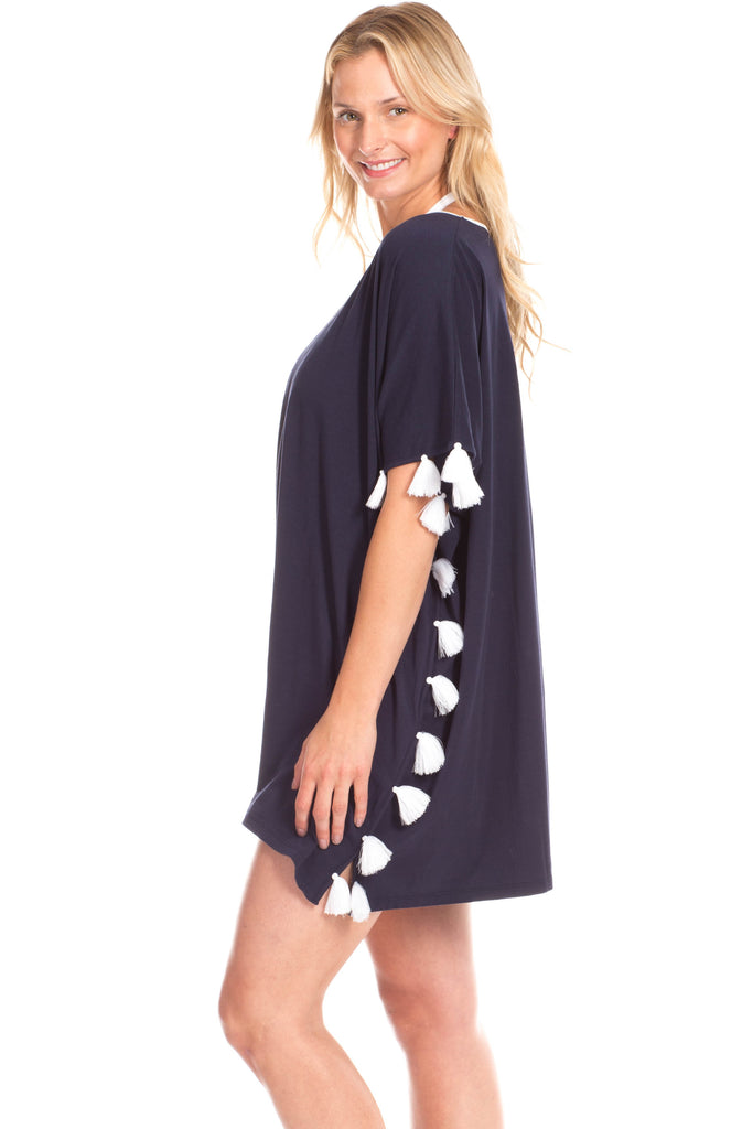 Joslin Caftan in Navy