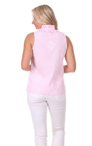 Zoe Top in Pink Gingham