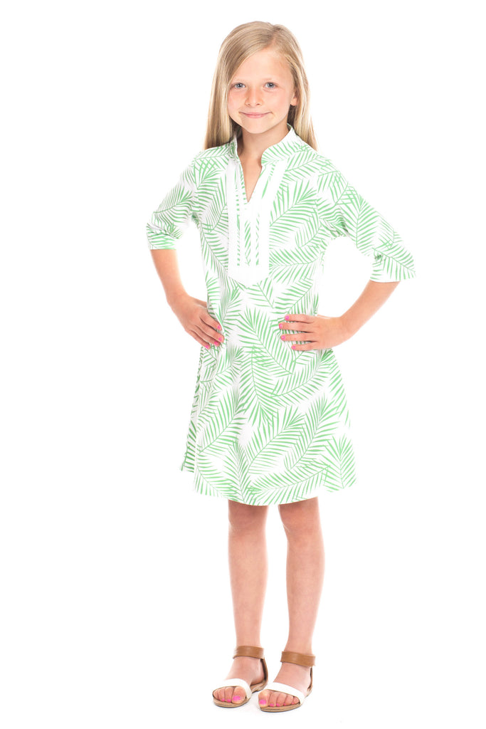 Girls Spring Lake in Palm Print
