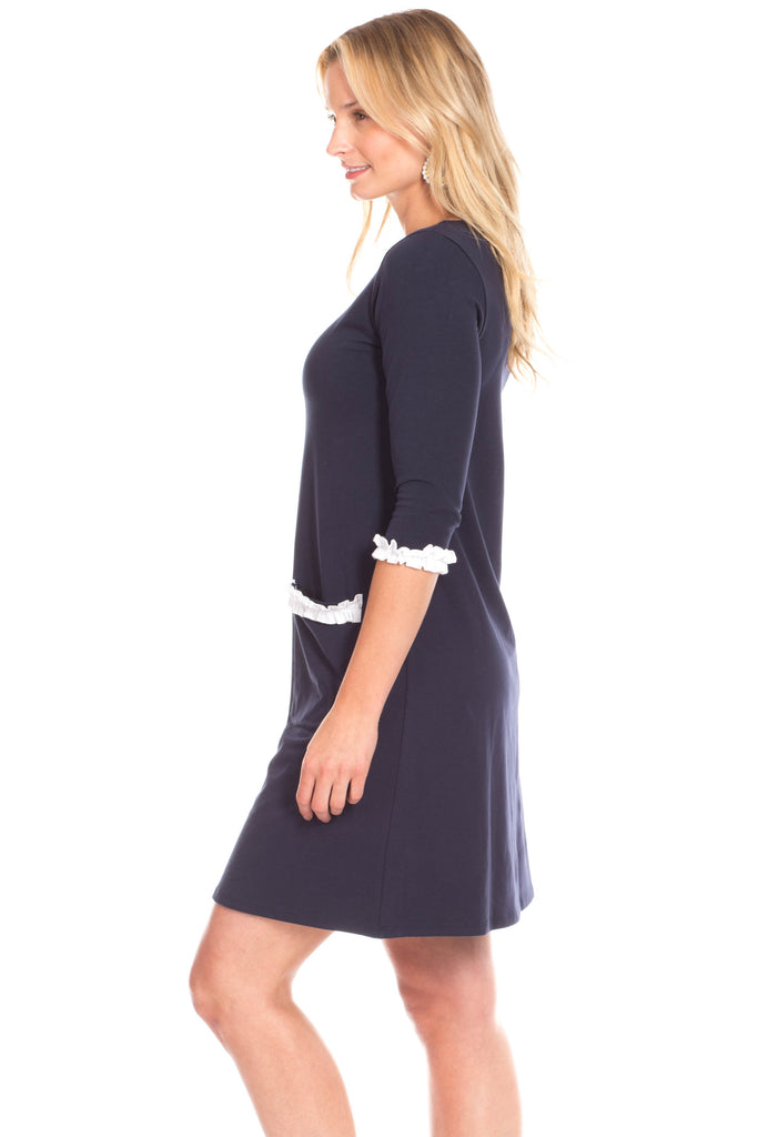 Reynolds Dress in Navy