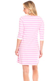 Reynolds Dress in Orchid Stripe