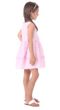 Girls Isabelle Dress in Pink Gingham