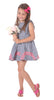 Girls Maddie Dress in Navy Gingham