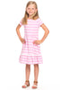 Girls Paige Pom-Pom Dress in Orchid Stripes