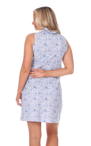 Coldwater Wrap Dress in Blooming Blue