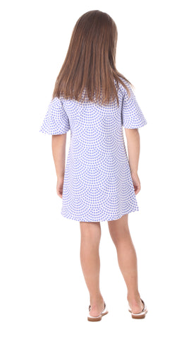Girls Mila Dress in Lavender Dot