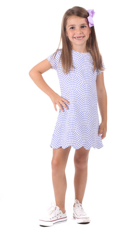 Girls Harlow Dress in Splatter Print