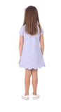 Girls Violet Dress in Lavender Dot
