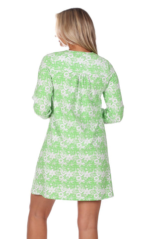 Lyssa Dress in Green Botanical