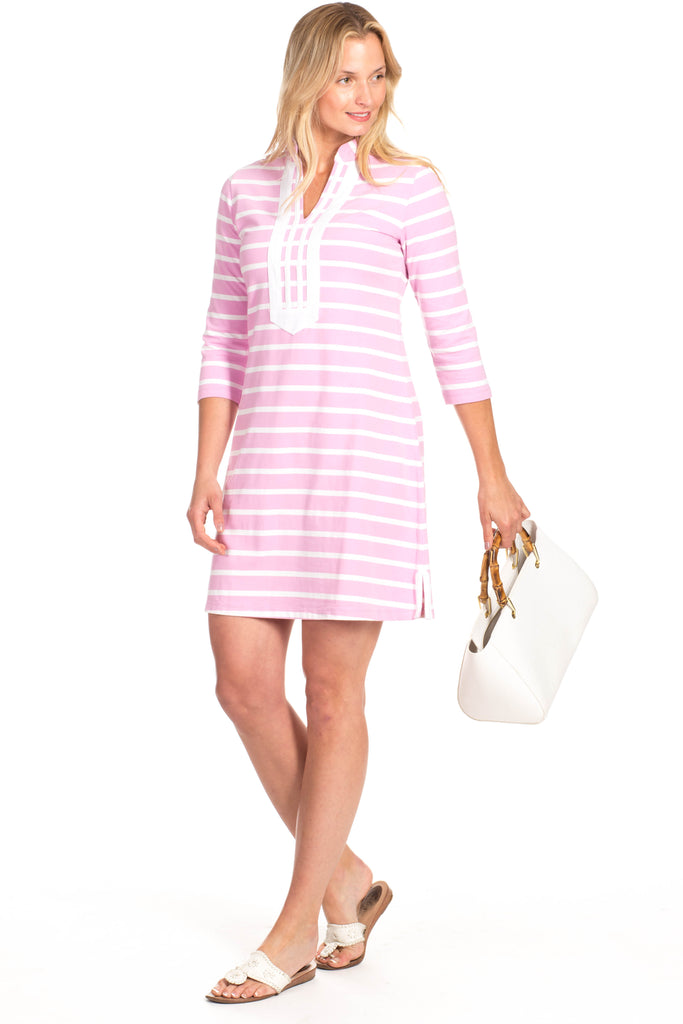 Spring Lake Dress in Orchid Stripe