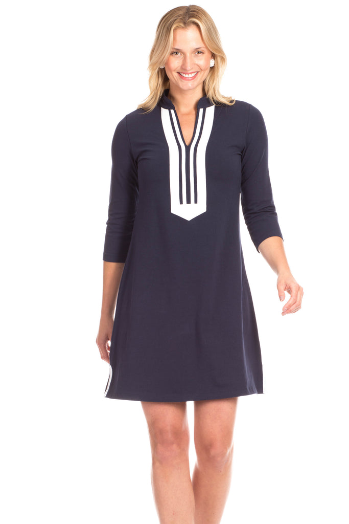 Spring Lake Dress in Navy
