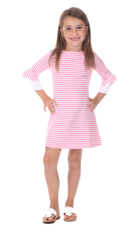 Lexi Dress in Lavender Stripe