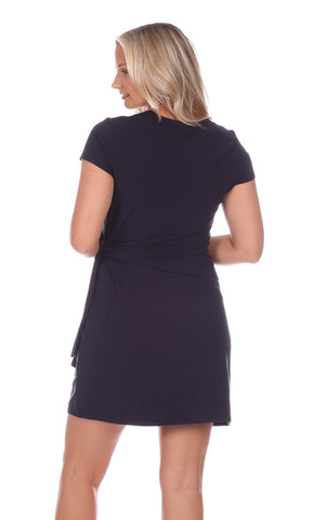 Lexi Dress in Solid Navy