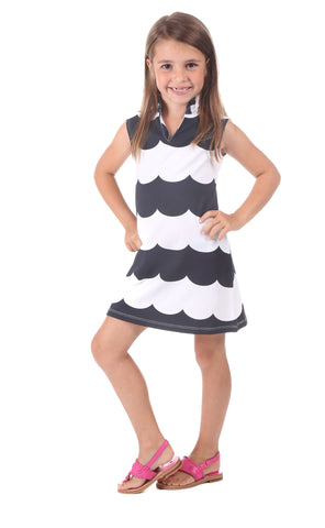 Girls Colony Coverup in White Swiss Dot