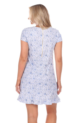 Masie Dress in Blooming Blue