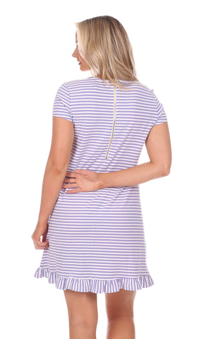 Masie Dress in Violet Stripe