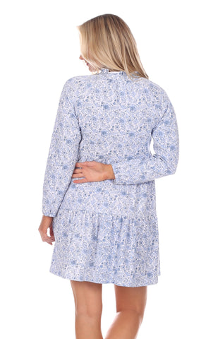 Fiona Dress in Blooming Blue