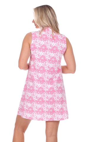 Kerry Dress in Azalea Botanical