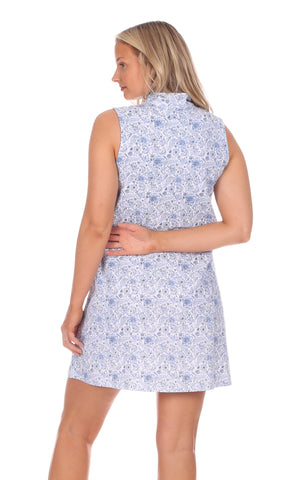 Kerry Dress in Blooming Blue