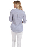 Pointe Tunic in Blue Seersucker