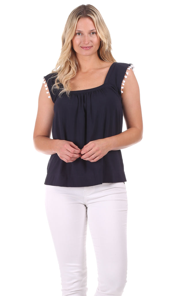 Maggie Top in Navy