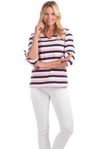Croswell Top in Navy Stripes