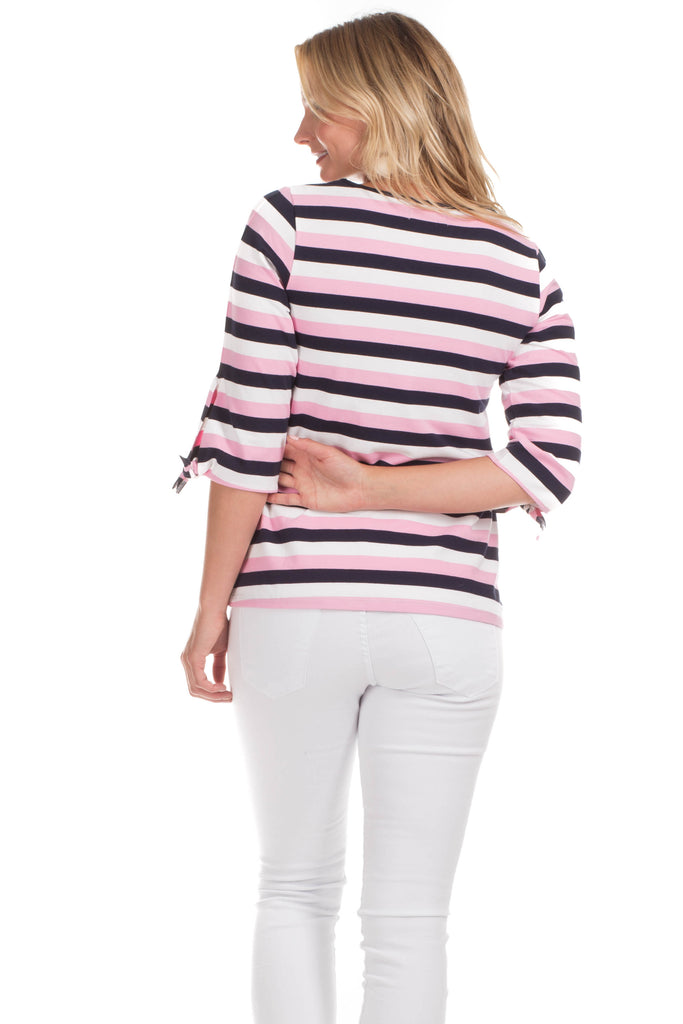 Croswell Top in Pink Stripes