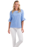 Zeeland Top in Vista Blue