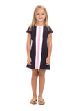 Girls Abigail Dress in Navy