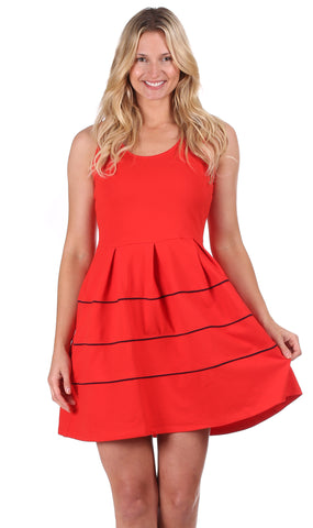 Somerset Dress in Red
