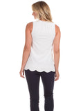 Walsh Top in White