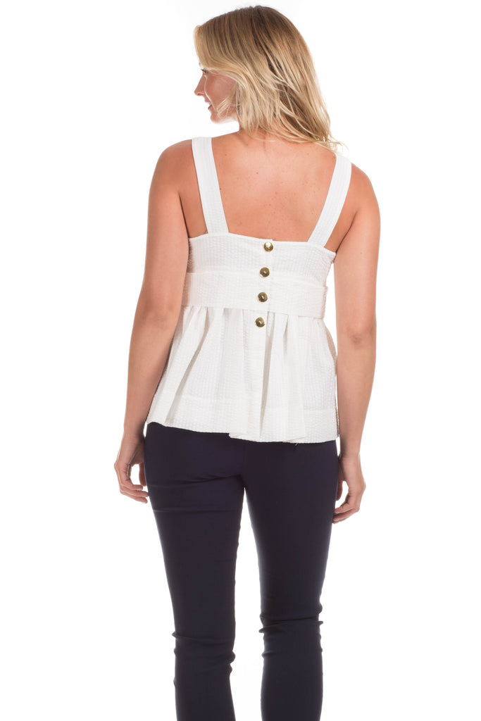 Ashville Top in White