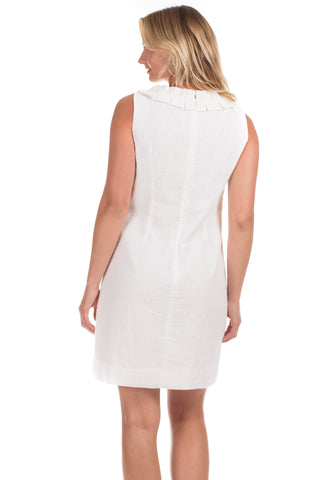 Mayfield Dress in White Seersucker