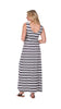 Monterey Maxi in Navy & White Stripe