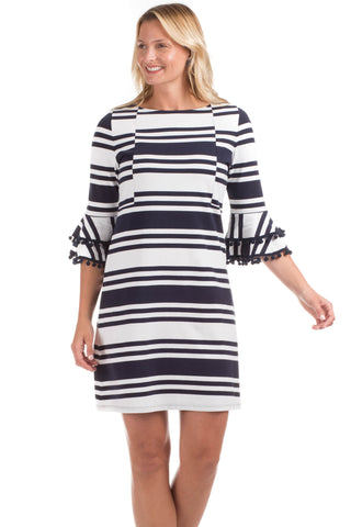 Polly Pullover in Navy Stripes