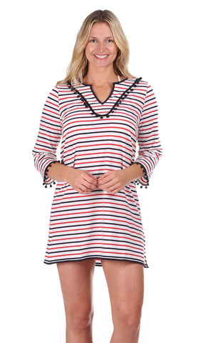 Monterey Maxi in Red, White & Navy Stripe